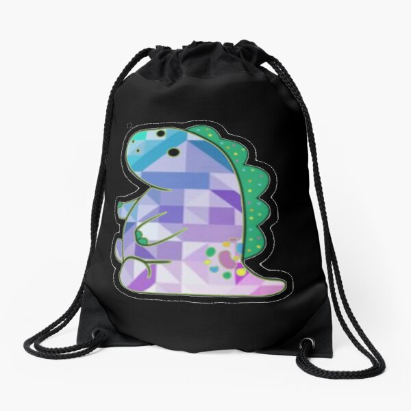 Pickle The Dinosaur Drawstring Bag