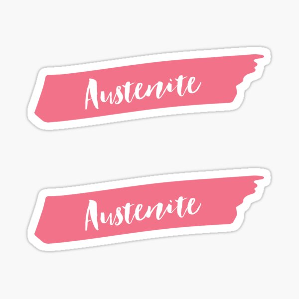 Pink Brush Austenite  Sticker