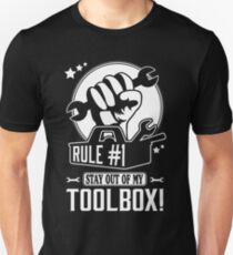 Rule #1: Stay out of my toolbox! Slim Fit T-Shirt