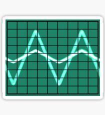 Oscilloscope Sticker