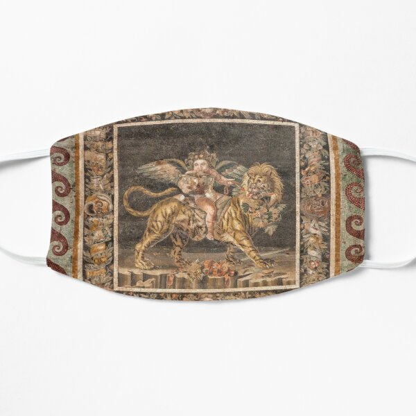 Dionysus on the back of a Tiger mosaic Flat Mask