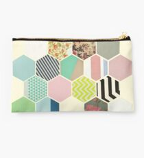 Florals and Stripes Studio Pouch
