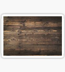 Wooden background. Texture with an old, rustic, brown planks Sticker