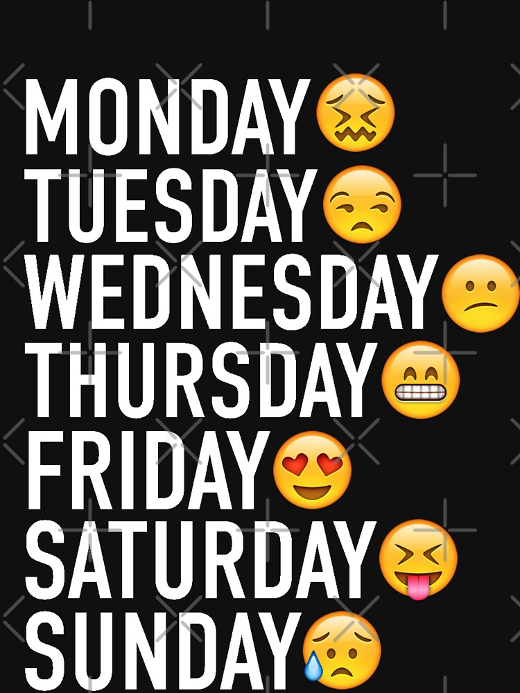 Stimmungen der Woche ausgedrückt durch Emojis von FullTimeFangirl