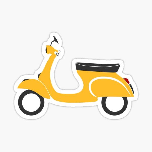 Vespa scooter yellow Sticker