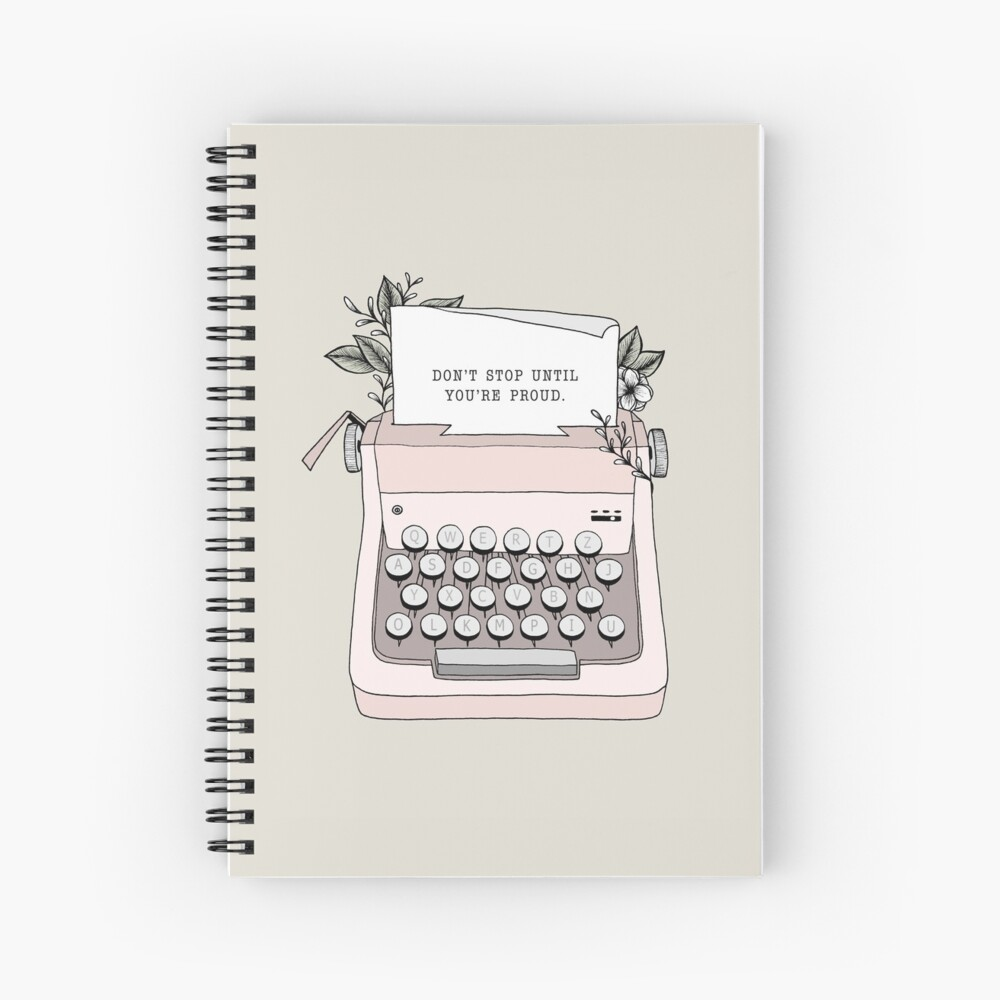 Don't Stop Spiral Notebook