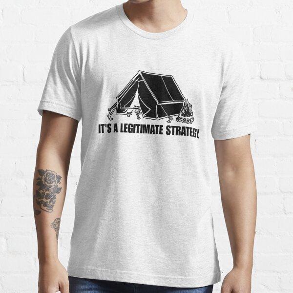 RvB Camping its a legitimate strategy (Black) Essential T-Shirt