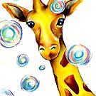 Bubbles and A Giraffe by Autumn Linde