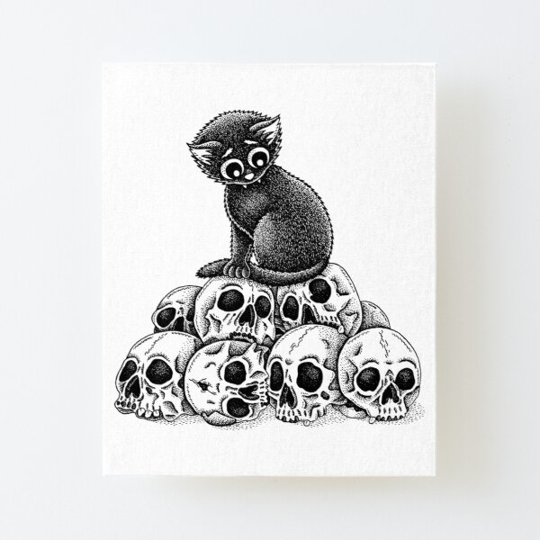 Pile Of Skulls Canvas Mounted Print