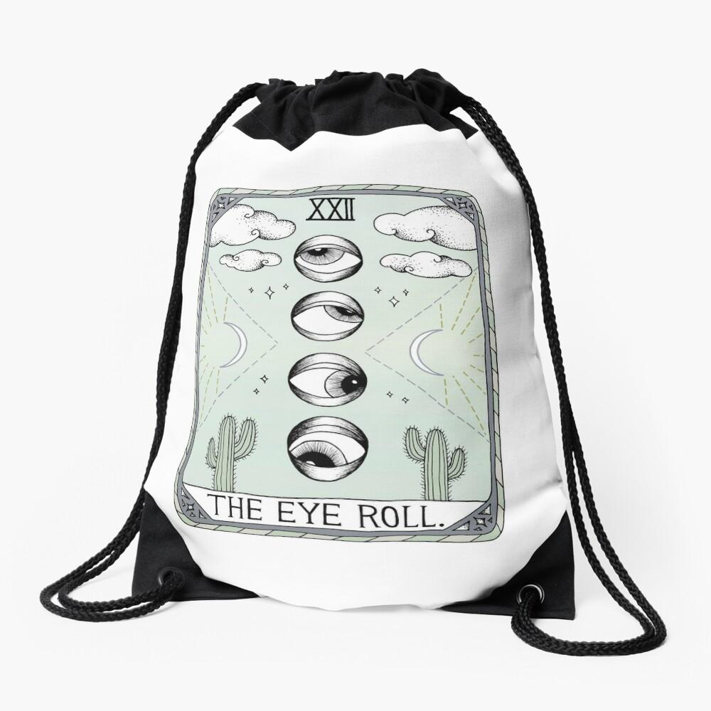 The Eye Roll Drawstring Bag