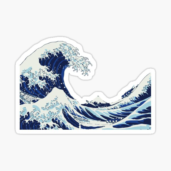 La grande vague Sticker