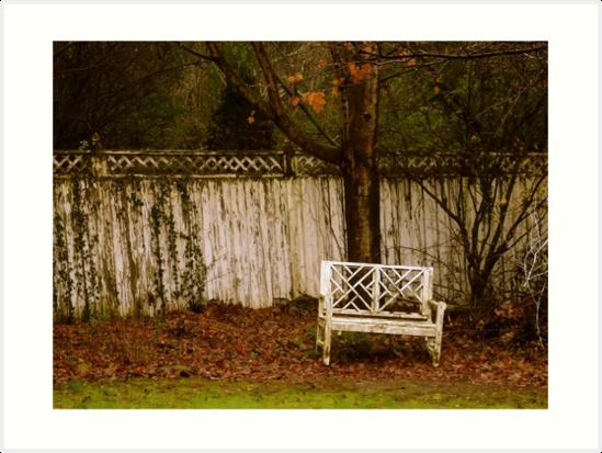 Quaint and Vintage NuWray Inn Back Garden, Burnsville, NC by Marielle Valenzuela