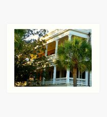 Charleston Harbor Manse Art Print