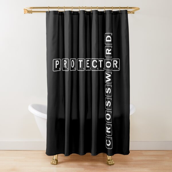 Protector Crossword  Shower Curtain