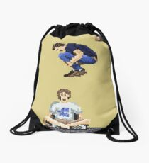 Broken Pixel - Brothers Can't Be Friends Drawstring Bag