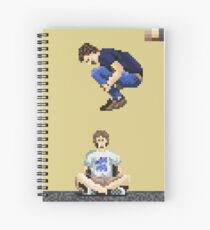Broken Pixel - Brothers Can't Be Friends Spiral Notebook