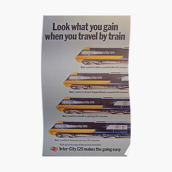 1970's British Rail Inter City HST promotional poster Poster