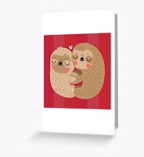 Sloth Love Greeting Card