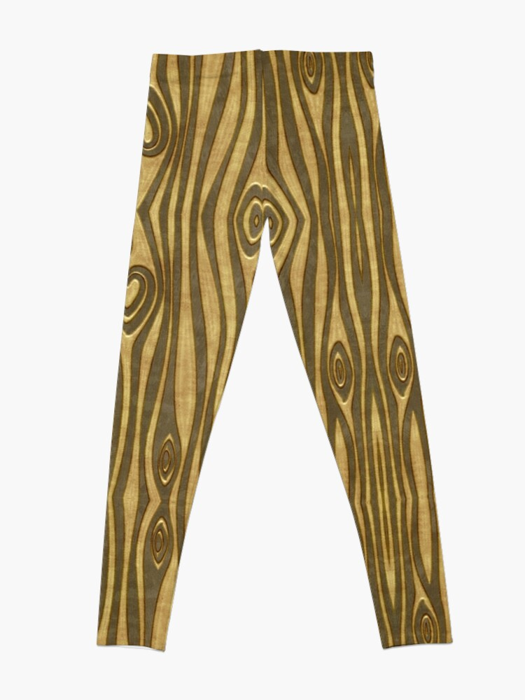 Alternate view of Golden Wood Grain Heart Leggings