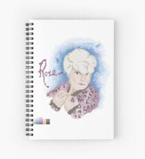 Broken Pixel - Rose Spiral Notebook