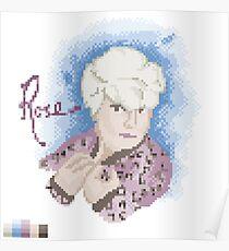 Broken Pixel - Rose Poster