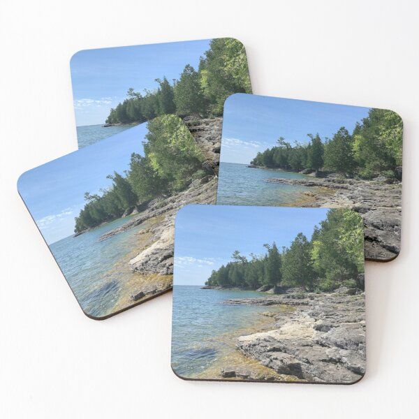 Rocks by The Lake Coasters (Set of 4)