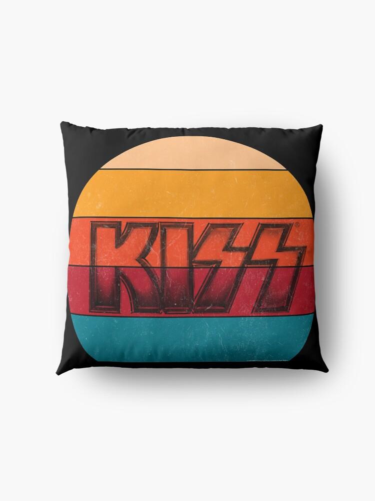 Alternate view of Kiss Band Vintage Sunset Logo Floor Pillow