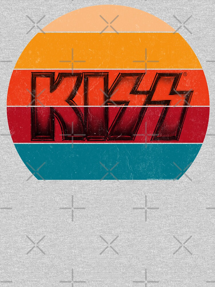 Kiss Band Vintage Sunset Logo by LAQueenDee
