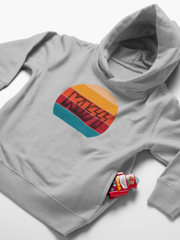 Alternate view of Kiss Band Vintage Sunset Logo Toddler Pullover Hoodie