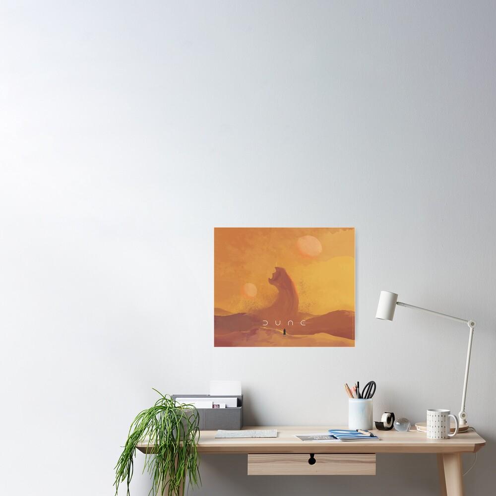 Dune 2021. Fan Art. Sandworm Poster