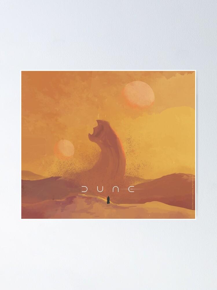 Alternate view of Dune 2021. Fan Art. Sandworm Poster