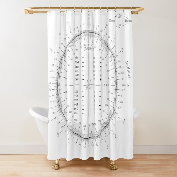 The unit circle Shower Curtain