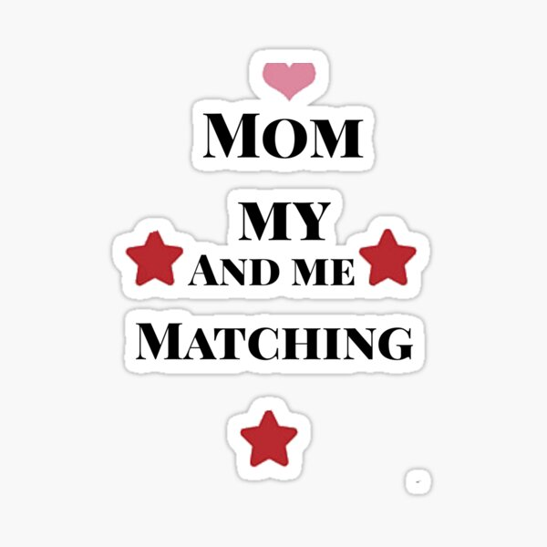 mommy and me matching Sticker