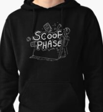 Scoop Phase white Pullover Hoodie