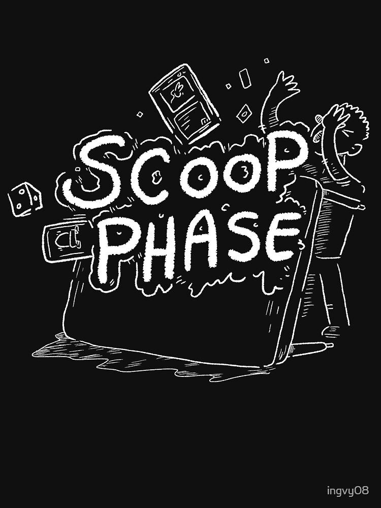Scoop Phase white | Unisex T-Shirt