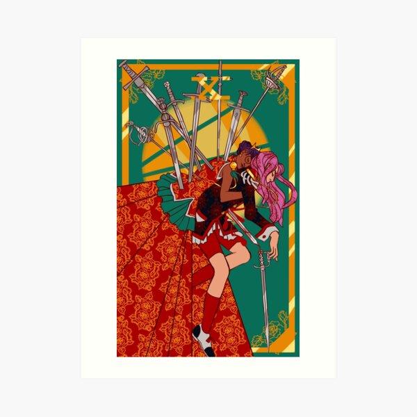 Utena Ten of Swords Art Print