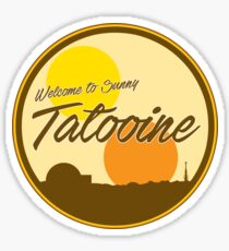 Welcome to Sunny Tatooine Sticker