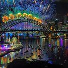 Sydney NYE Fireworks 2015 # 5 by Philip Johnson