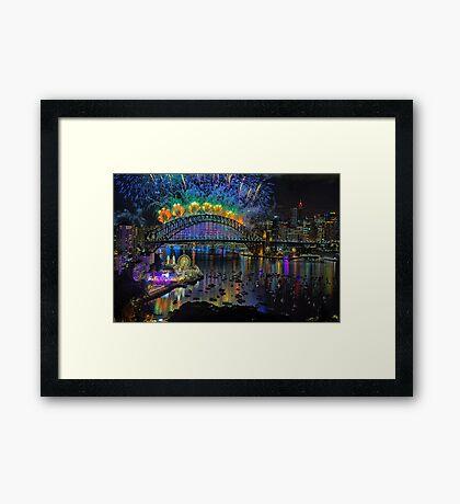 Sydney NYE Fireworks 2015 # 5 Framed Print
