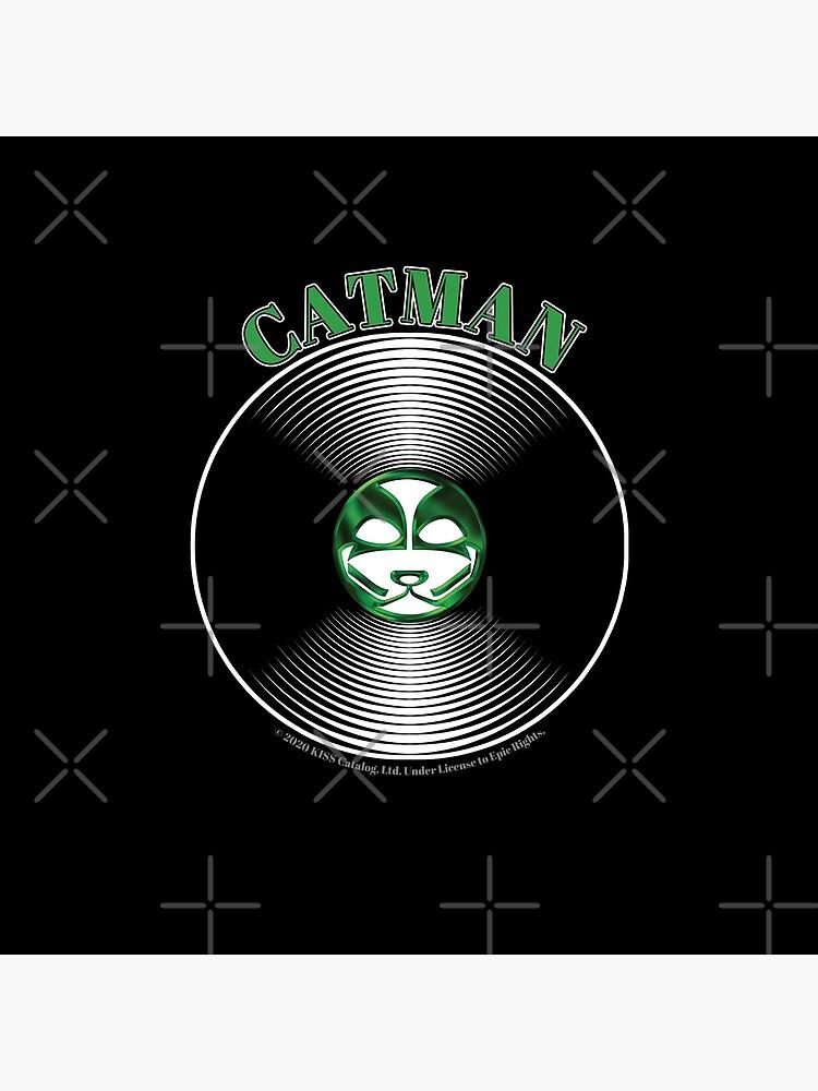 Green Catman Artwork in Center of Vinyl Record - Kiss by StuartJones951
