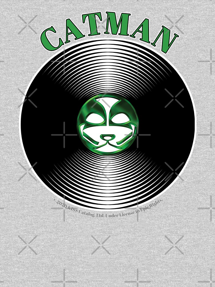 Green Catman Artwork in Center of Vinyl Record - Kiss by StuartJones951