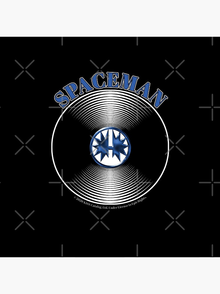 Blue Spaceman Artwork in Center of Vinyl Record - Kiss by StuartJones951