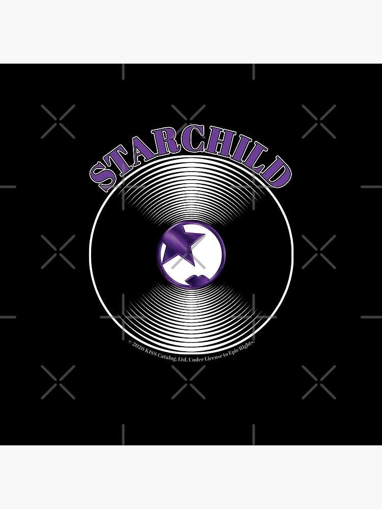 Purple Starchild Artwork in Center of Vinyl Record - Kiss by StuartJones951