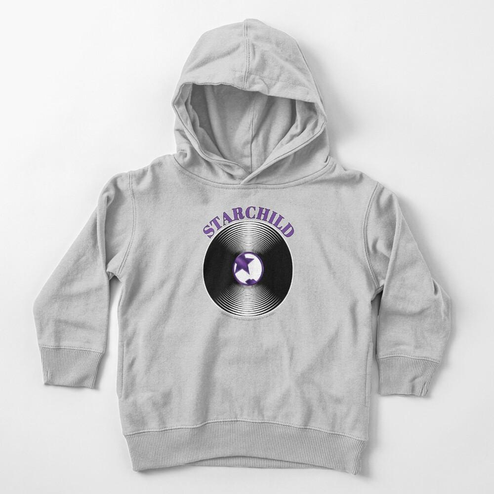 Purple Starchild Artwork in Center of Vinyl Record - Kiss Toddler Pullover Hoodie