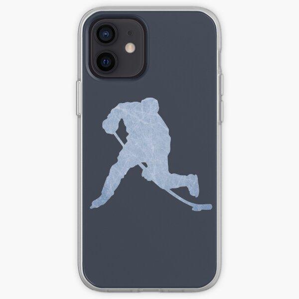 Silhouette de glace de hockey Coque souple iPhone