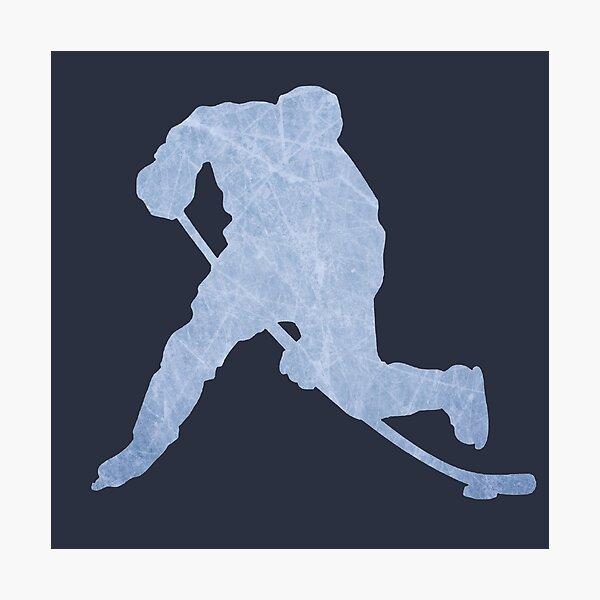Hockey ice silhouette Photographic Print