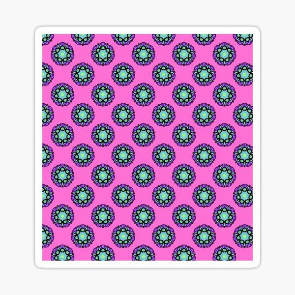 Deep Pink | Patterned Art Sticker