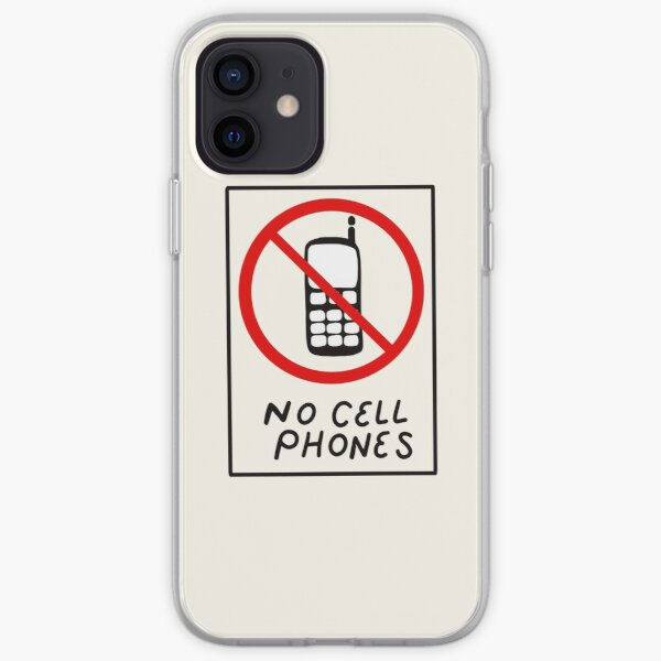 Luke's No Cell Phones Pattern Coffee Diner Pack iPhone Soft Case