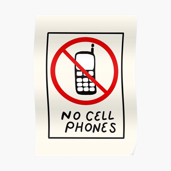 Luke's No Cell Phones Pattern Coffee Diner Pack Poster