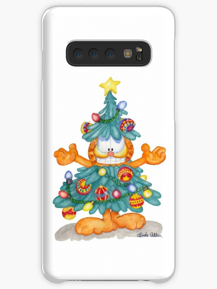 Garfield Christmas.Garfield Christmas Watercolor T Shirt Print And Cards Case Skin For Samsung Galaxy By Lallinda
